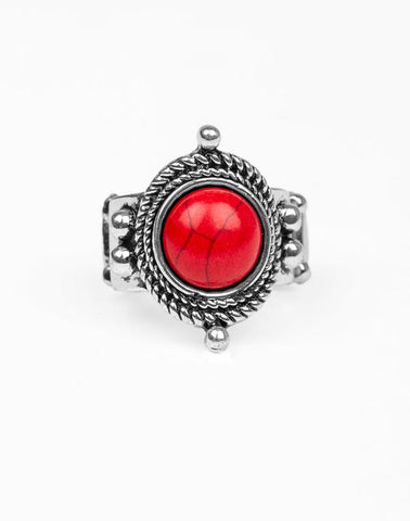 "Paparazzi Accessories - Paparazzi ""Prone To Wander"" - Red - Rings"