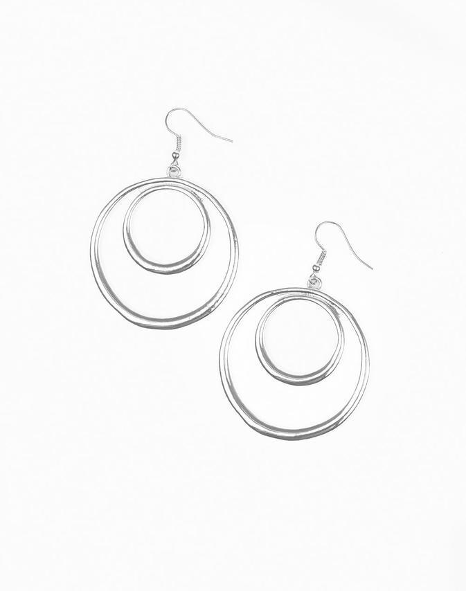 "Paparazzi Accessories - Paparazzi ""Put Your SOL Into It"" - Silver - Earrings"