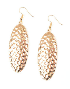 "Paparazzi Accessories - Paparazzi ""Radiantly Radiant"" - Gold - Earrings"