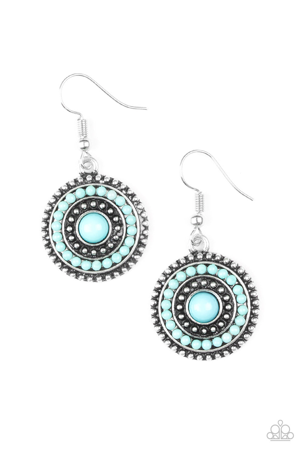 Paparazzi Accessories - Paparazzi Earring - Rainbow Riviera - Blue - Earrings