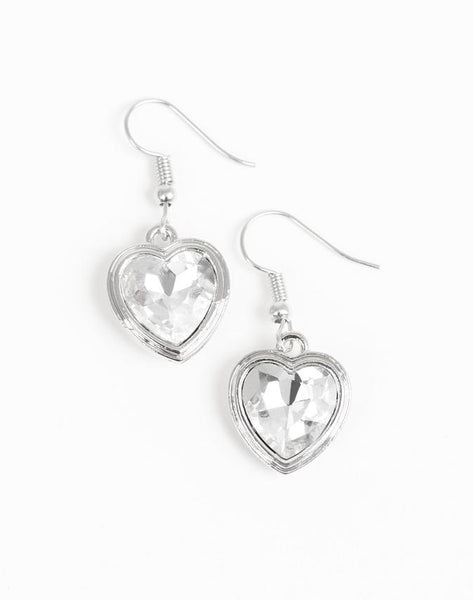"Paparazzi Accessories - Paparazzi ""Real Romance"" - White - Earrings"