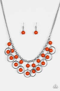 Paparazzi Accessories - Paparazzi Necklace - Really Rococo - Orange - Necklaces