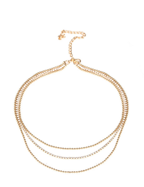"Paparazzi Accessories - Paparazzi ""Retro Minimalism"" - Gold - Necklaces"