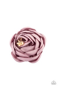 "Paparazzi Accessories - Paparazzi ""Rose Romance"" -Purple Rosebud Hear Clip - Hair Accessories"