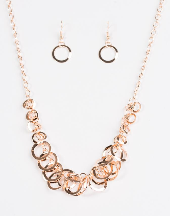 Paparazzi Accessories - Paparazzi Necklace - Royal Circus - Rose Gold - Necklaces