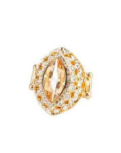"Paparazzi Accessories - Paparazzi ""Royal Radiance"" - Gold Ring - Rings"