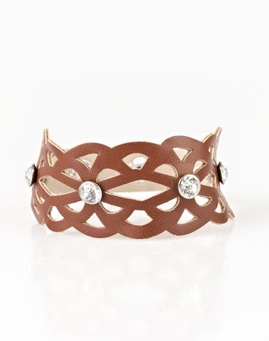 Paparazzi Accessories - Runaway Radiance - Brown - Bracelets