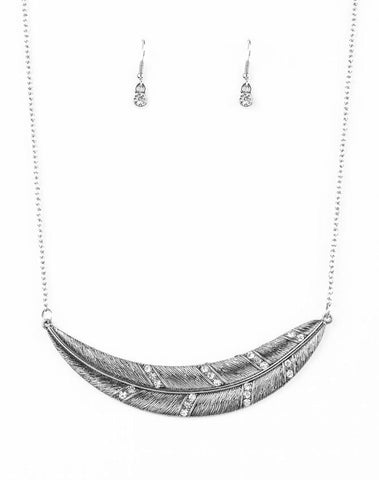 "Paparazzi Accessories - Paparazzi ""Say You Quill"" - Silver - Necklaces"