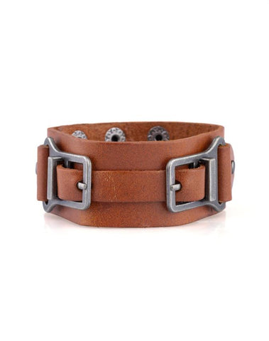 "Paparazzi Accessories - Paparazzi ""Scout It Out"" - Brown - Bracelets"