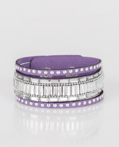 "Paparazzi ""Rock Star Rocker"" - Purple Bracelet"