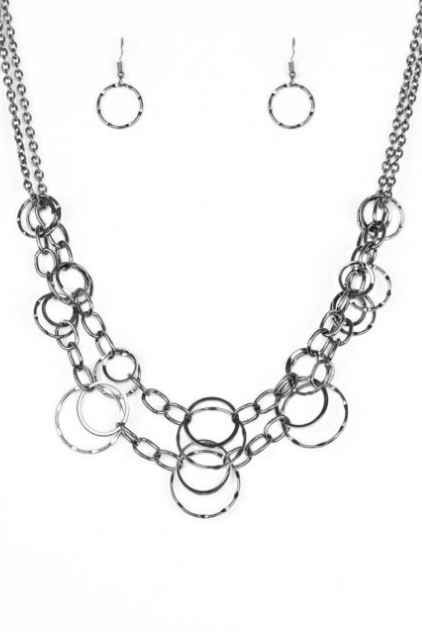 Paparazzi Accessories - Paparazzi Necklace - Urban Center – Black - Necklaces