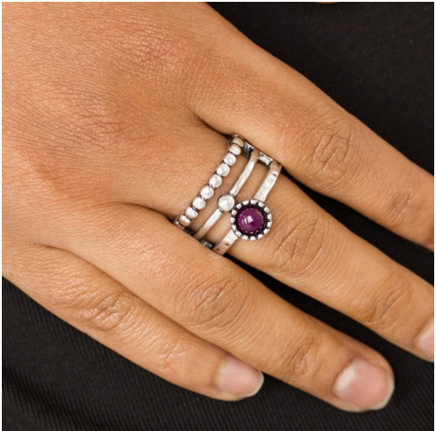 "Paparazzi Accessories - Paparazzi ""Summer Retreat"" - Purple Ring - Rings"