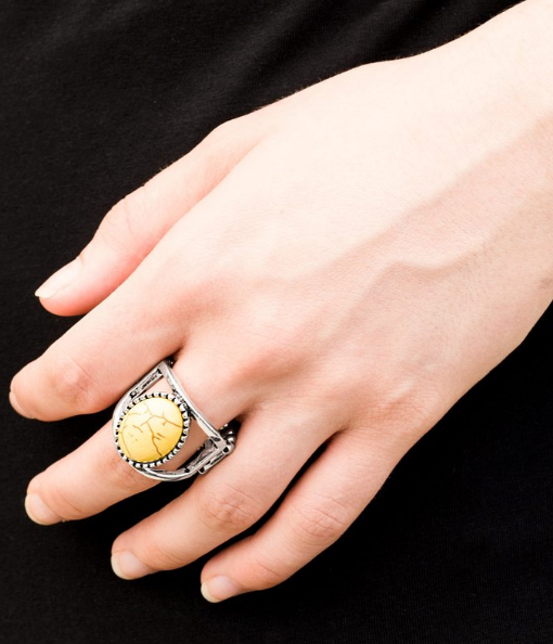 Paparazzi Accessories - Canyon Cache - Yellow Ring - Rings