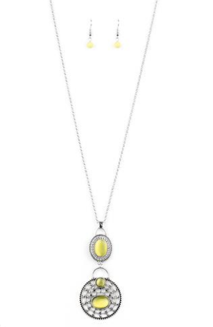 "Paparazzi Accessories - Paparazzi ""Hook, Vine, and Sinker"" Yellow - Necklace - Necklaces"
