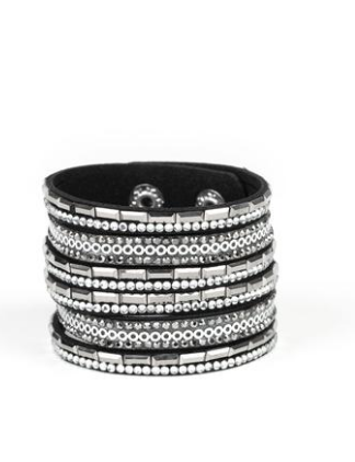 Paparazzi Accessories - Paparazzi A Wait-and-SEQUIN Attitude - Wrap Bracelet - Trend Blend Fashion Fix Exclusive June 2019 - Bracelets