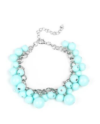 Paparazzi Accessories - Paparazzi By  A Show of Hands - Blue Shell Bracelet - Bracelets