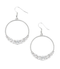 "Paparazzi Accessories - Paparazzi ""Self-Made Millionaire"" - White Earring - Earrings"