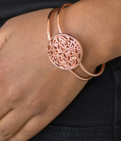"Paparazzi Accessories - Paparazzi ""Mandala Majesty"" - Copper - Bracelets"