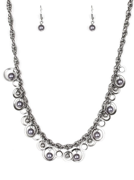 Paparazzi Accessories - Paparazzi Necklace - Shipwreck Style - Black - Necklaces