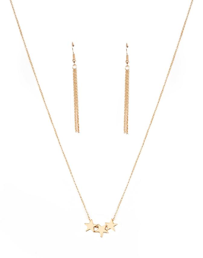 "Paparazzi Accessories - Paparazzi ""Shoot For The Stars"" - Gold - Necklaces"