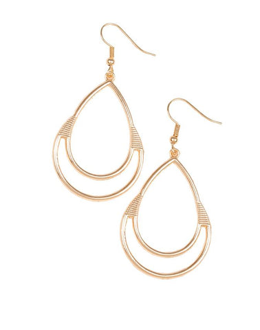 "Paparazzi Accessories - Paparazzi ""Simple Glisten"" - Gold - Earrings"