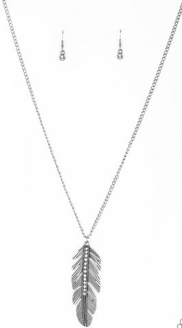 Paparazzi Accessories - Sky Quest - Silver Necklace and Earring Set - Necklaces