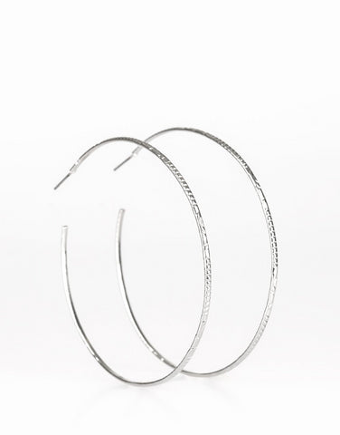 Paparazzi | Sleek Fleek | Silver Hoop Earring