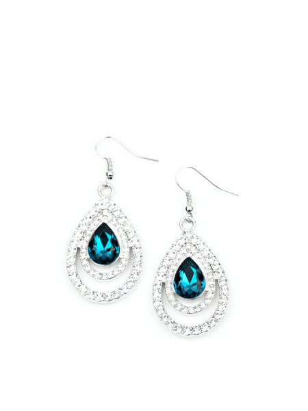 "Paparazzi ""So The Story GLOWS"" - Blue Earrings"