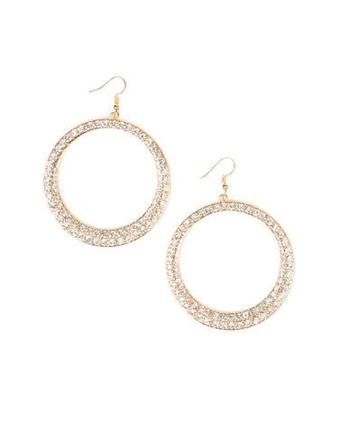 "Paparazzi Accessories - Paparazzi ""So Demanding"" - Gold - Earrings"