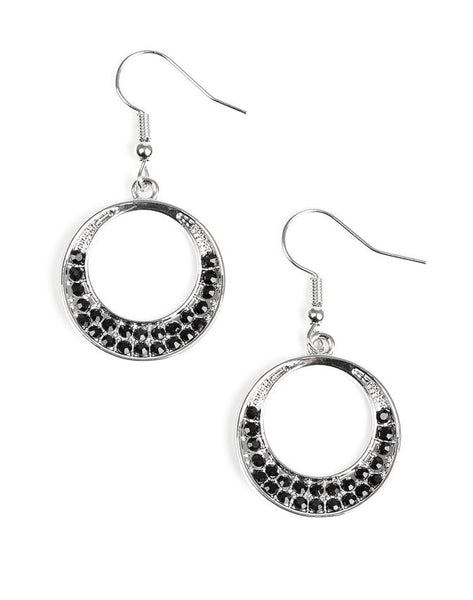 Paparazzi Accessories - Socialite Luster - Black Earring - Earrings