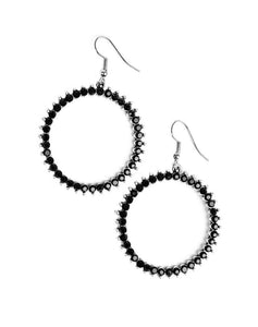 "Paparazzi Accessories - Paparazzi ""Spark Their Attention"" - Black Earring - Earrings"