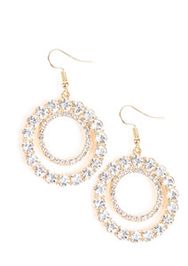"Paparazzi Accessories - Paparazzi ""Spotlight Shout Out"" - Gold - Earrings"