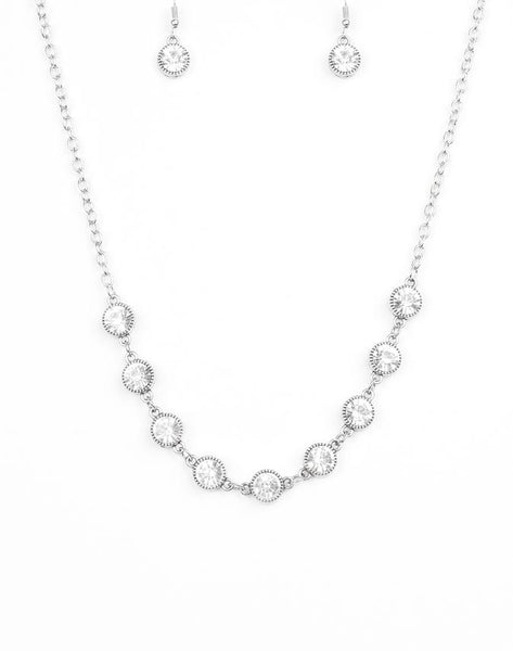 Paparazzi Accessories - Starlit Socials - White - Necklaces