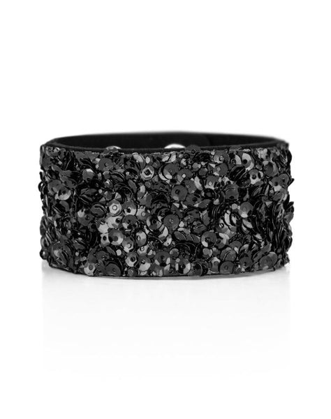 "Paparazzi Accessories - Paparazzi ""Starry Sequins"" - Black - Bracelets"