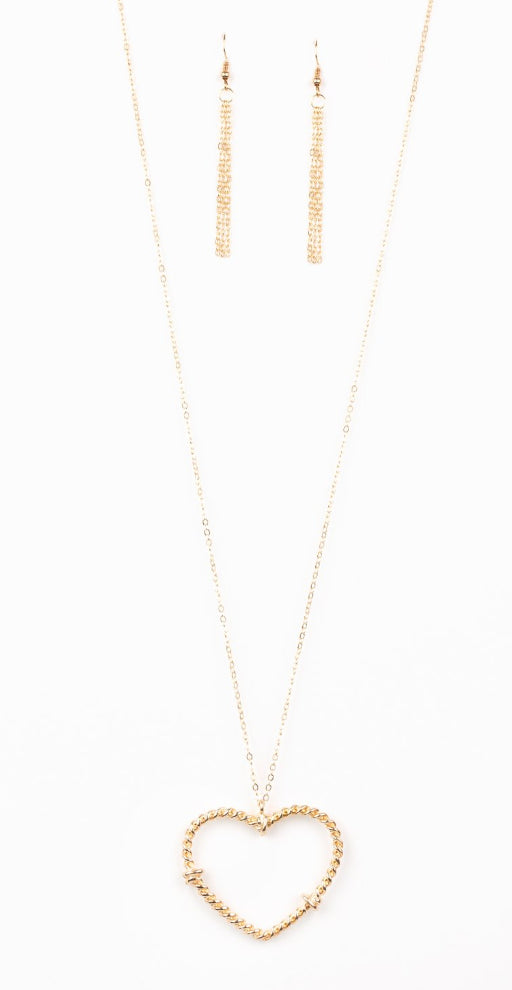 "Paparazzi Accessories - Paparazzi ""Straight From The Heart"" - Gold - Necklaces"