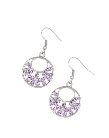 "Paparazzi Accessories - Paparazzi ""Sugary Shine"" - Purple - Earrings"