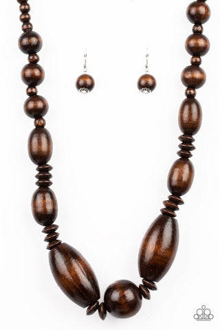 "Paparazzi Accessories - Paparazzi ""Summer Breezin"" - Brown - Necklaces"