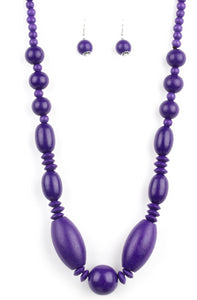 "Paparazzi Accessories - Paparazzi ""Summer Breezin"" - Purple - Necklaces"