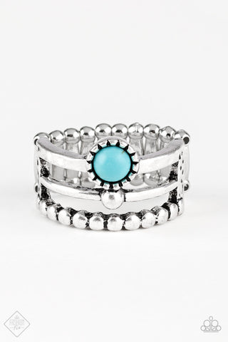 Paparazzi Accessories - Paparazzi Ring - Summer Retreat - Turquoise - Rings