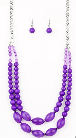 "Paparazzi Accessories - Paparazzi ""Sundae Shoppe"" - Purple - Necklaces"