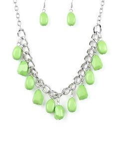 "Paparazzi Accessories - Paparazzi ""Take The COLOR Wheel!"" - Green Necklace - Necklaces"