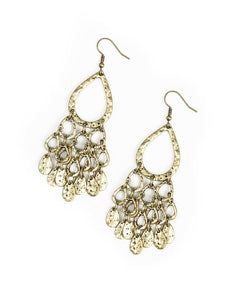 "Paparazzi Accessories - Paparazzi ""Teardrop Trinket"" - Brass - Earrings"