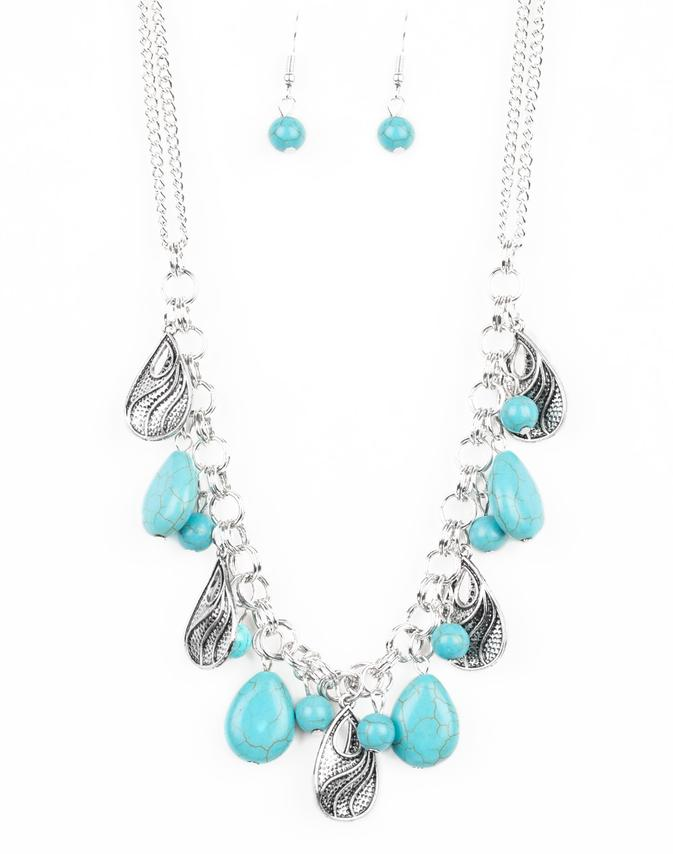 "Paparazzi Accessories - Paparazzi ""Terra Tranquility"" - Blue - Necklaces"