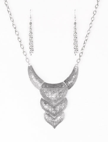 Paparazzi Accessories - Texas Temptress - Silver - Necklaces