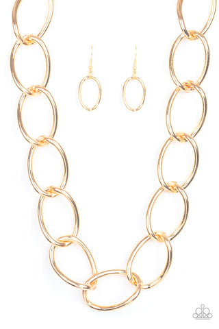 "Paparazzi Accessories - Paparazzi ""The Challenger"" - Gold - Short necklace"