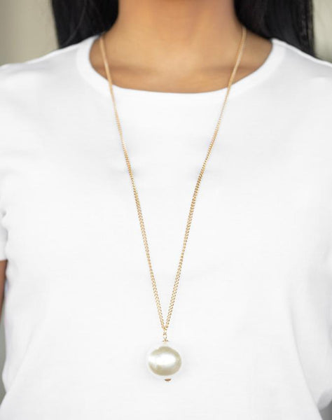 "Paparazzi Accessories - Paparazzi ""The Grand Baller"" - Gold - Long Necklace"