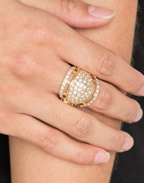 "Paparazzi Accessories - Paparazzi ""The Seven-FIGURE Itch"" - Gold - Ring"