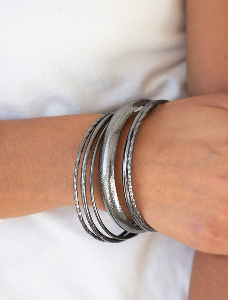 "Paparazzi Accessories - Paparazzi ""The Customer Is Always BRIGHT"" Silver Bracelets - Bracelets"