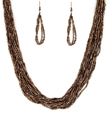 "Paparazzi Accessories - Paparazzi ""The Speed of STARLIGHT"" - Copper - Necklaces"