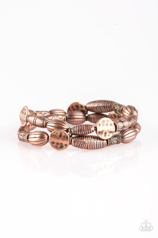 Paparazzi Accessories - The Spice of WILDLIFE | Copper Bead | Stretchy Paparazzi Bracelet - Bracelets